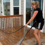 Using a Pressure Washer to Get Your Patio Ready For a Cookout Party