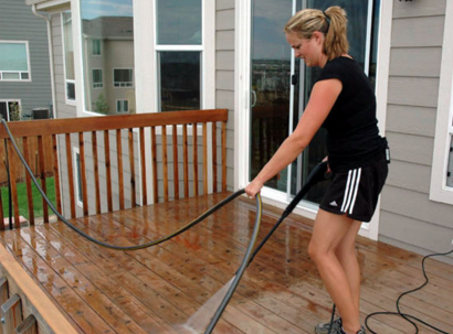 pressure washer using outdoor