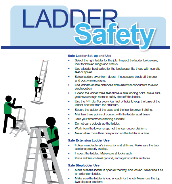 ladder safety when clean rain gutters