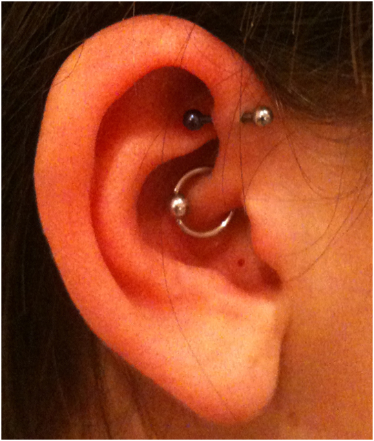 Daith and Helix Piercing