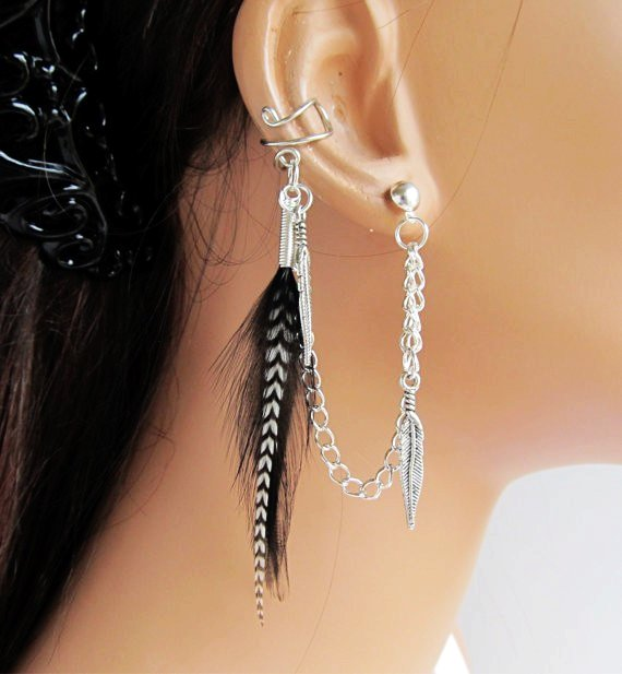 Feather chain piercing