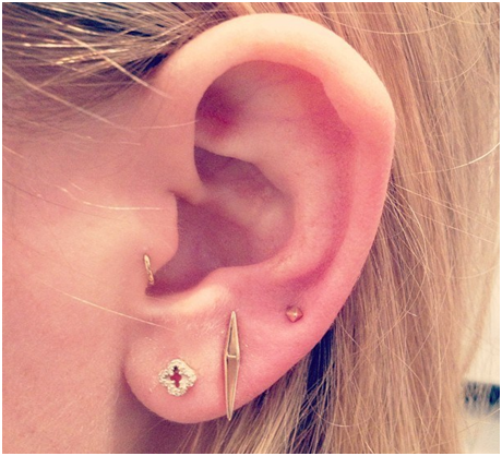 The Tragus and The Triple Lobe Combination Piercing