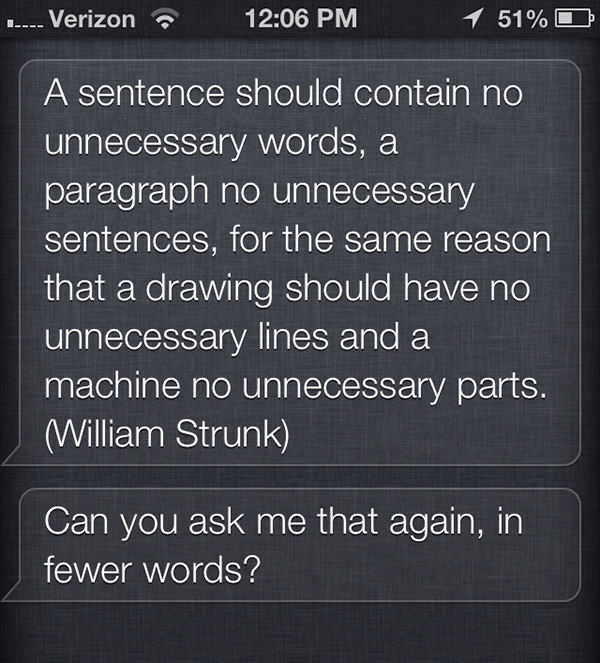 thing to say to siri