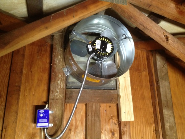 Installing exhaust fan bathroom no attic in house for Bathroom ventilation installation