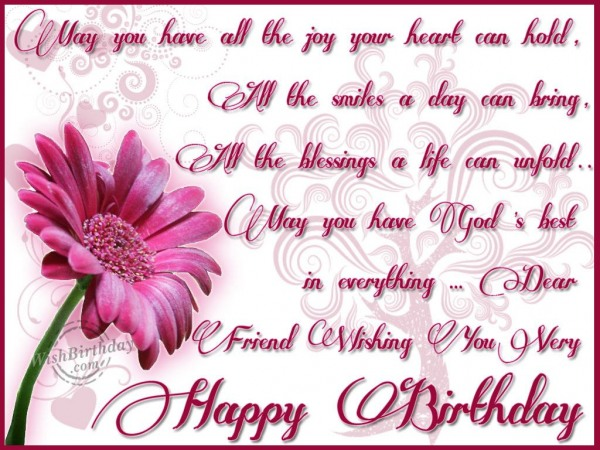 Happy Birthday Message Dear ~ Happy birthday wishes for friends must read