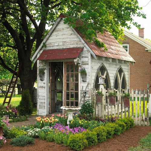 church like garden shed