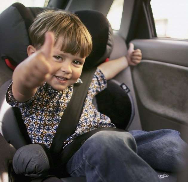 kid in a car seat