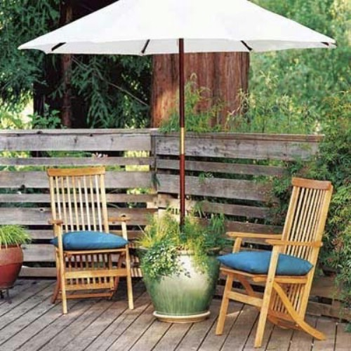 patio umbrella garden