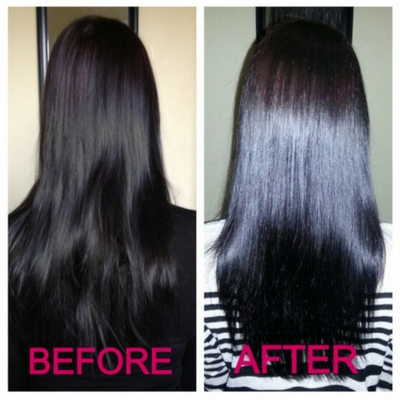 Clarifying Shampoo before and after
