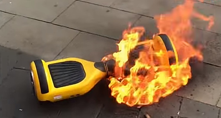 hoverboard fire