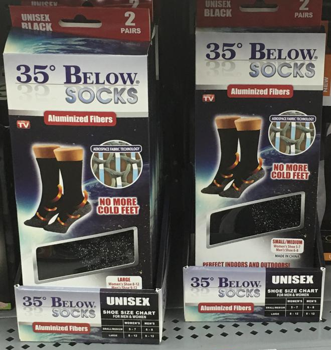 35 Below Socks review