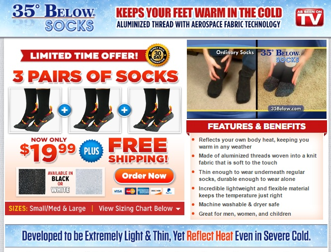 35 below socks