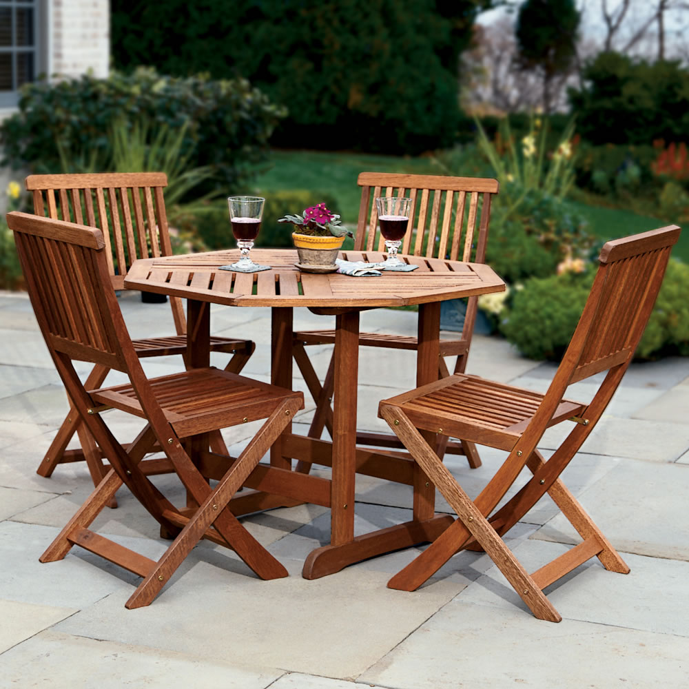 Teak patio furniture top product reviews hubnames for Patio furniture table set