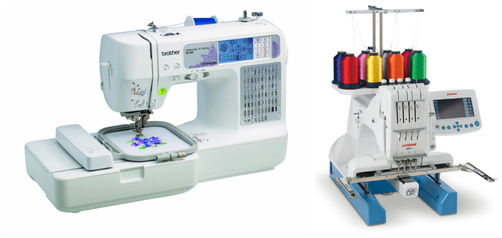 types of embroidery machines