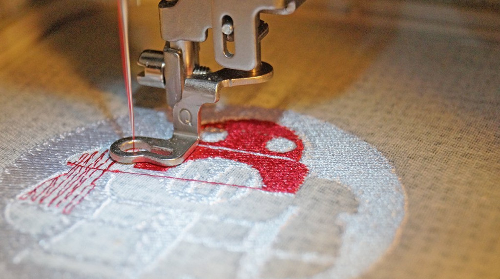use embroidery machine